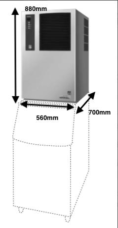 Cubitera Hoshizaki Mod.IM-130ANE-HC
