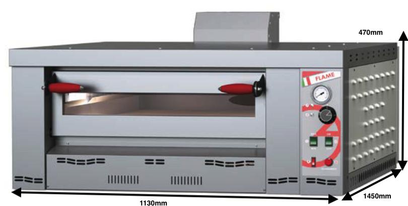 Horno para pizzas a gas Romagsa Mod. Flame 6