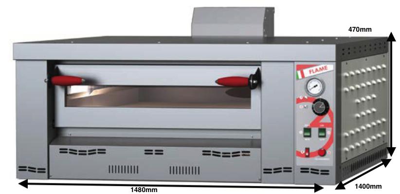 Horno para pizzas a gas Romagsa Mod. Flame 9