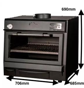 Horno de brasa Pira Mod. 70 XL Lux Black
