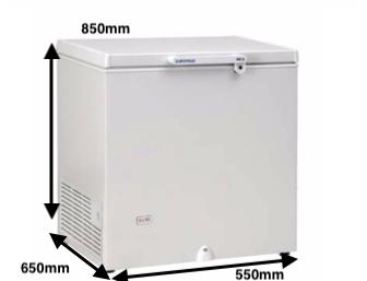 Arcon congelador EUROFRED CH 110