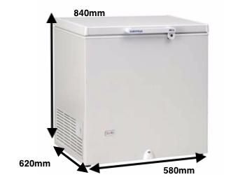 Arcon congelador EUROFRED HC 170
