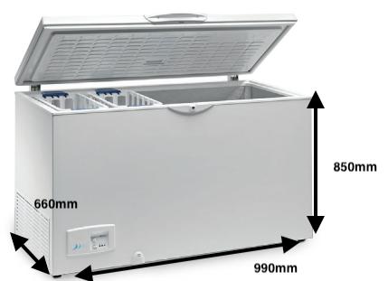 Arcón congelador EUROFRED HC 320