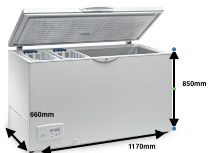 Arcón congelador EUROFRED HC 370