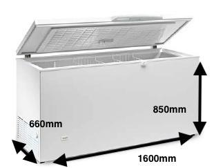 Arcón congelador EUROFRED HC 570