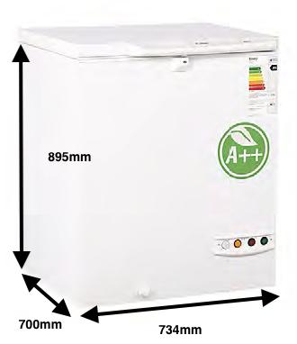 Arcon congelador PECOMARK 150