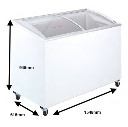 Arcon congelador PECOMARK CRISTAL TAPA CURVA 500