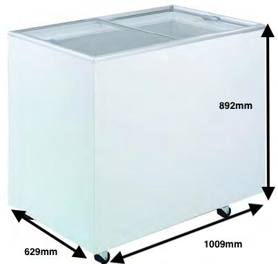Arcon congelador PECOMARK CRISTAL TAPA PLANA 300