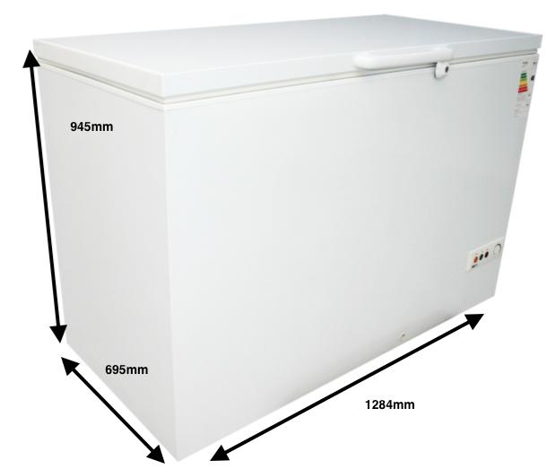 Arcón congelador GRAN CAPACIDAD PECOMARK 400