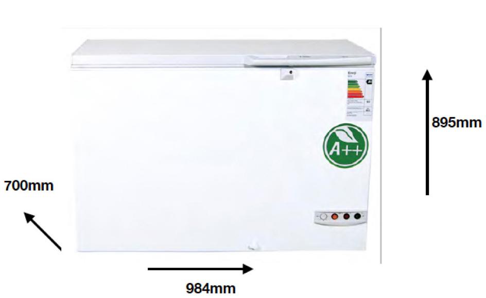 Arcon congelador PECOMARK 210