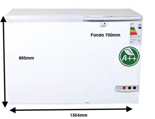 Arcón congelador PECOMARK 410