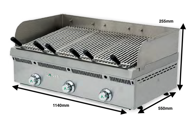 Brasa gas Mainho Serie Vasca Inox Mod. PBV-120