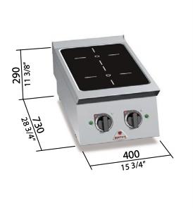 Cocina Bertos eléctrica de Inducción Mod.SE7P2B/IND