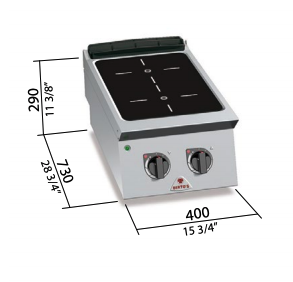 Cocina eléctrica Bertos mod.SE7P2B/VTR