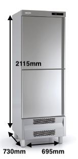 Armario vertical congelación DOCRILUC Mod ACS-75-2