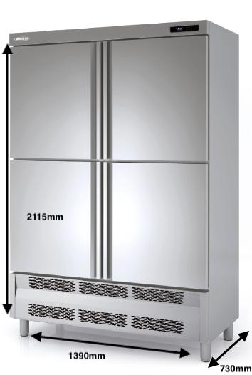 Armario vertical congelación DOCRILUC Mod ACS-140-4