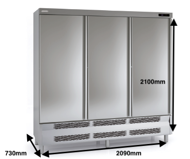 Armario vertical congelación DOCRILUC Mod ACS-210-3