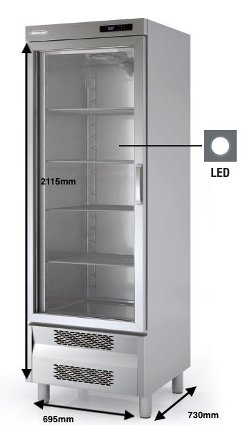 Armario vertical congelación DOCRILUC Mod ACSV-75-1