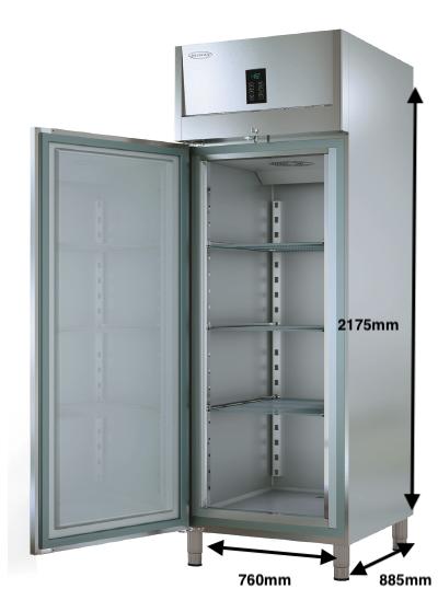 Armario vertical congelación DOCRILUC Mod DHEGC-75-1