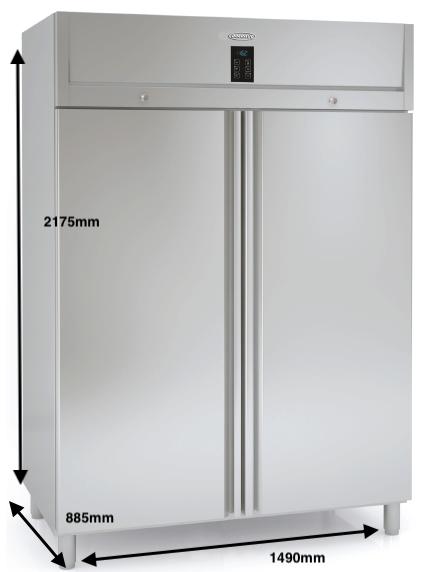 Armario vertical congelación DOCRILUC Mod DHEGC-140-2