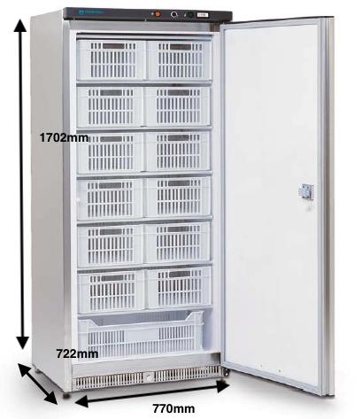 Armario vertical congelación EUROFRED Modelo AB500 N