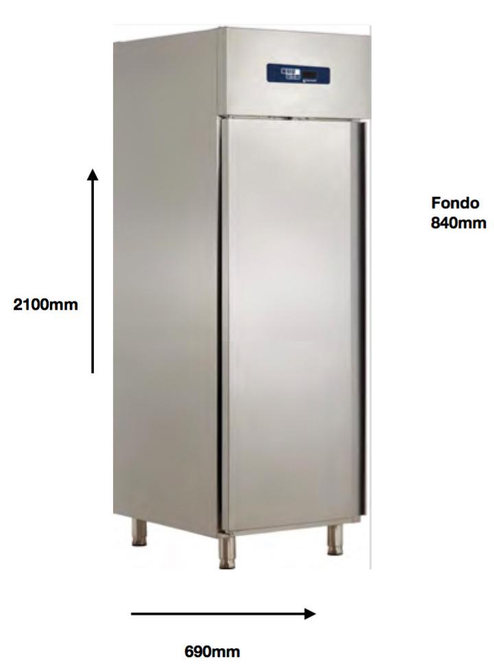 Armario vertical congelación Pecomark gastronorm 2/1 A 600