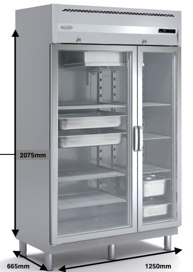 Armario vertical conservación DOCRILUC Mod AG-125-E-1/1-2/1