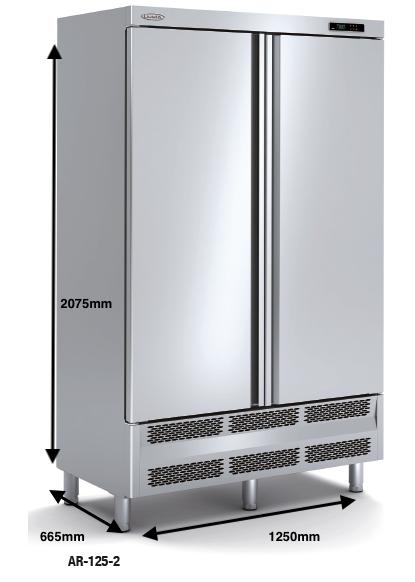 Armario vertical conservación DOCRILUC Mod AR-125-2
