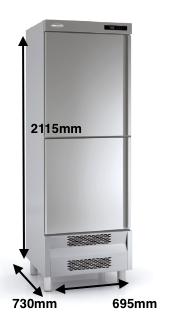 Armario vertical conservación DOCRILUC mod ARS-75-2