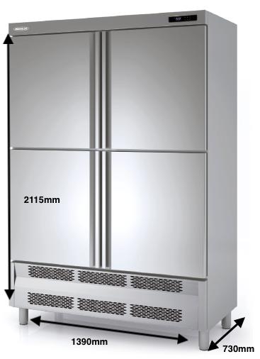 Armario vertical conservación DOCRILUC Mod ARS-140-4