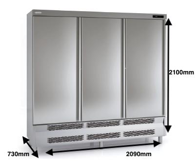Armario vertical conservación DOCRILUC Mod ARS-210-3