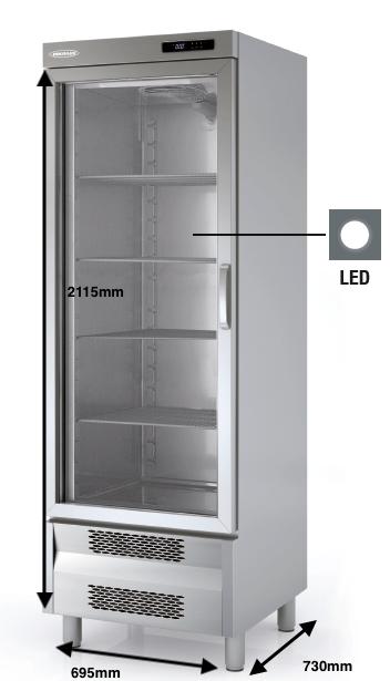 Armario vertical conservación DOCRILUC Mod ARSV-75-1