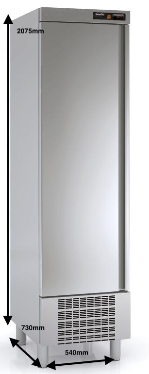 Armario vertical conservación DOCRILUC Mod.ASD-55 SPEED