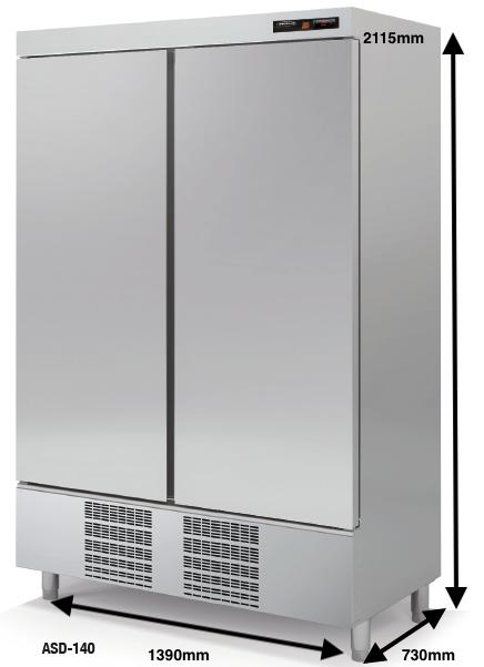 Armario vertical conservación DOCRILUC Mod.ASD-140 SPEED