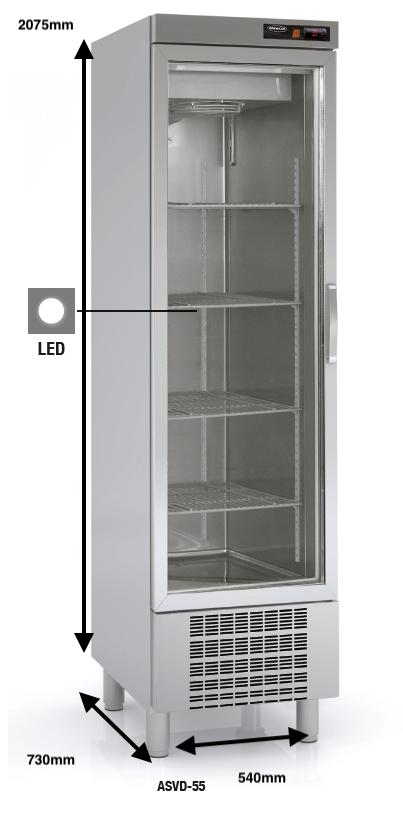 Armario vertical conservación DOCRILUC Mod.ASVD-55 SPEED