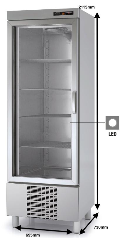 Armario vertical conservación DOCRILUC Mod.ASVD-75 SPEED