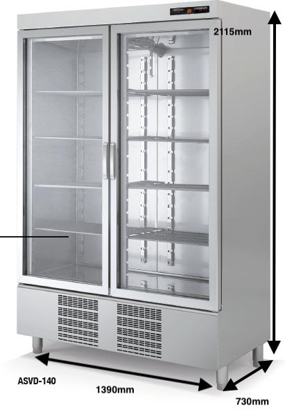 Armario vertical conservación DOCRILUC Mod.ASVD-140 SPEED