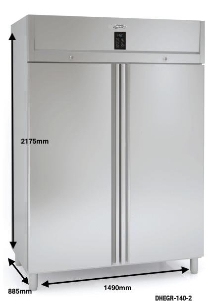 Armario vertical conservación DOCRILUC Mod DHEGR-140-2
