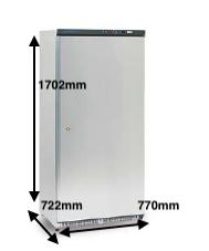 Armario vertical conservación EUROFRED Modelo AB500 PV