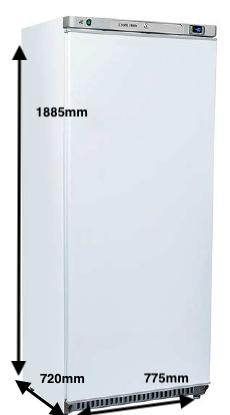 Armario vertical conservación EUROFRED Modelo RC600