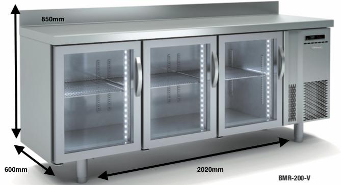 Bajo mostrador conservación DOCRILUC BMR-200-V