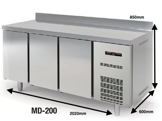 Bajo mostrador Conservación DOCRILUC Mod. MD-200 SPEED