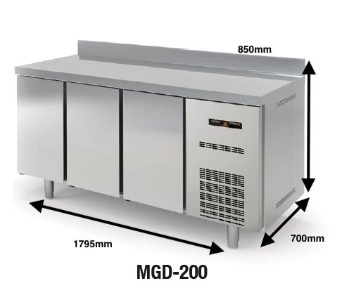 Bajo mostrador conservación DOCRILUC Mod. MGD-200 SPEED