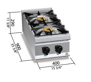 Cocina a gas Bertos mod.LXG9F2PS