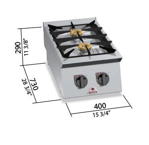 Cocina a gas Bertos Mod.SG7F2B