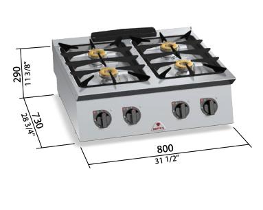 Cocina a gas Bertos Mod.SG7F4B