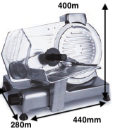 Cortadora de fiambre ROMAGSA Mod.LADY-250