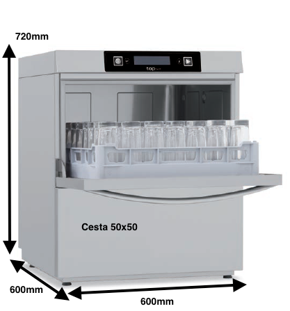 Lavavasos Colged TOPTECH 35-20 D con dosificador de detergente