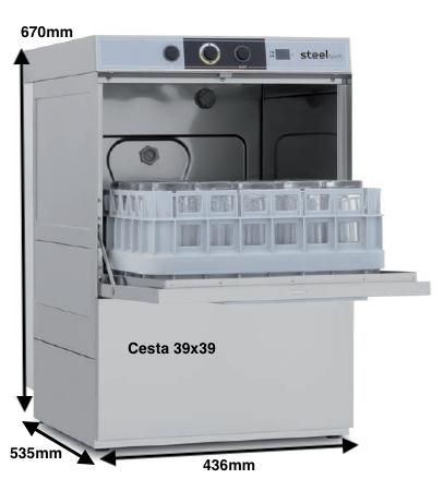 Lavavasos Colged STEELTECH 34-01 D con dosificador de detergente y bomba desague