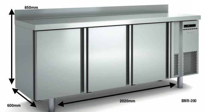 Bajo mostrador congelación DOCRILUC BMC-200